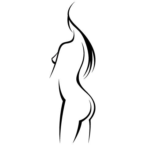 Corps buste Femme nue