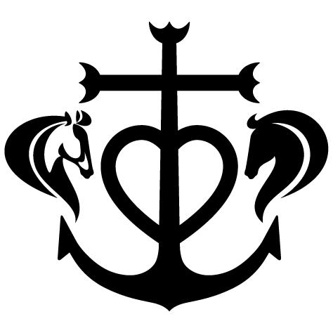 Têtes de chevaux croix de Camargue