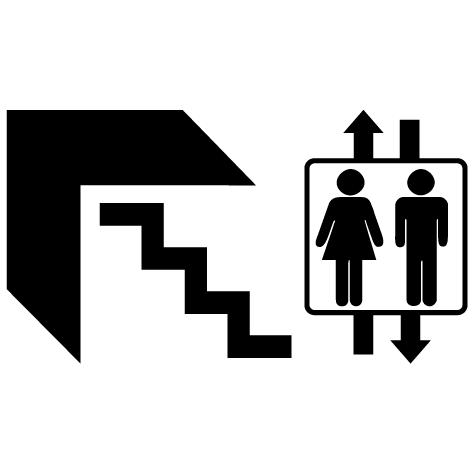 icone escalier ascenseur