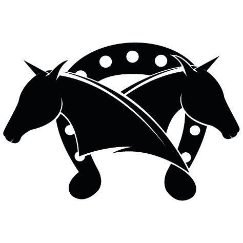 Fer à cheval avec 2 têtes