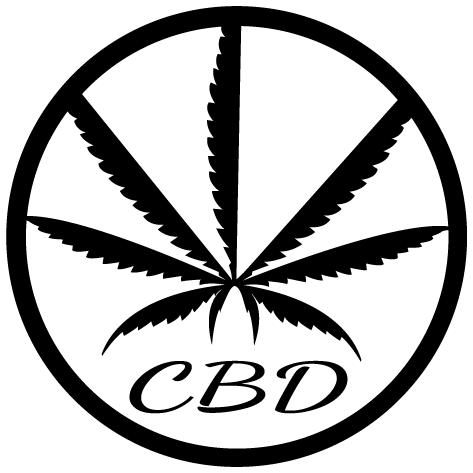 Sticker feuille CBD