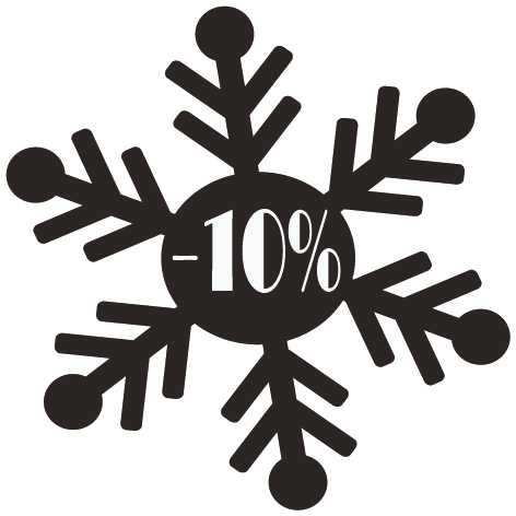 Achat Sticker flocon -10%
