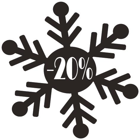 Achat Sticker flocon -20%