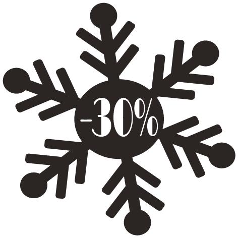 Achat Sticker flocon -30%