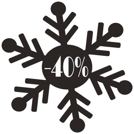 Achat Sticker flocon -40%