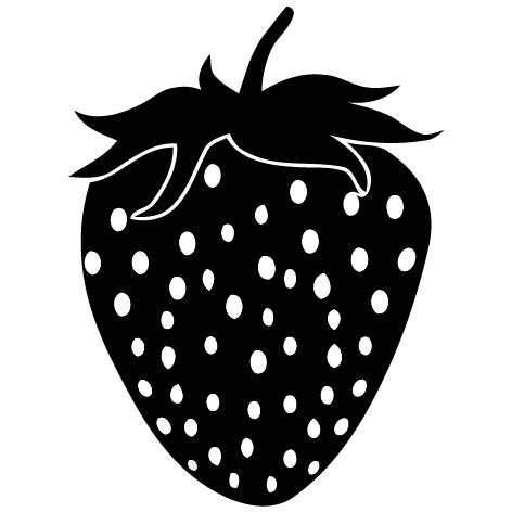 Sticker fraise-01