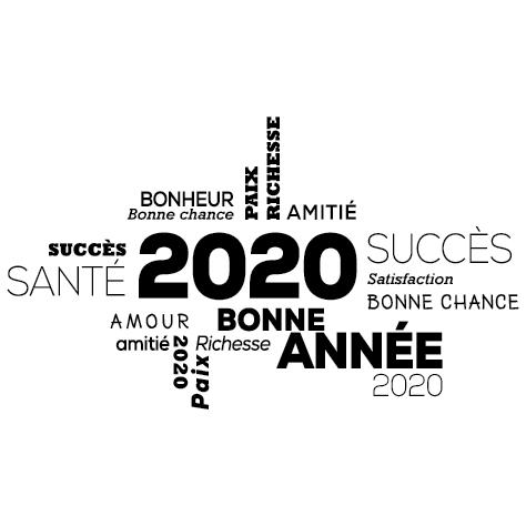 Sticker jeux de lettres 2020