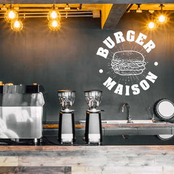 Sticker burger maison