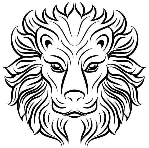 Achat Sticker lion tribal