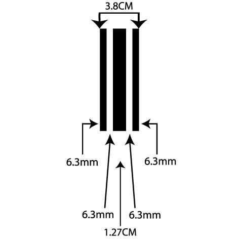 liseret adhésif 3.80CM