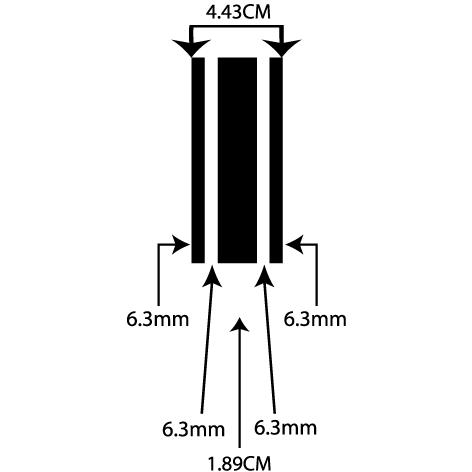 liseret adhésif 4.43CM
