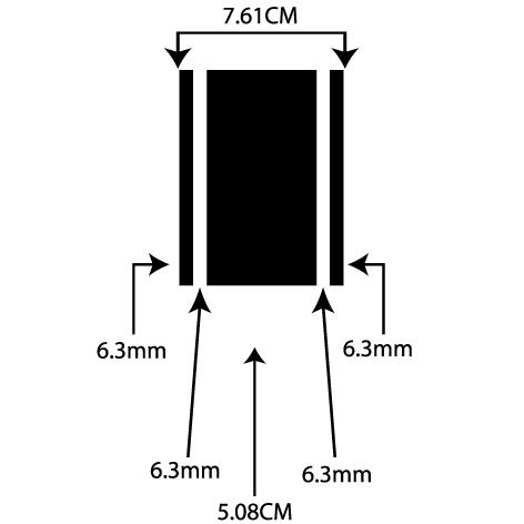 liseret adhésif 7.61CM