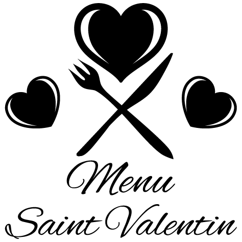 Sticker menu saint valentin