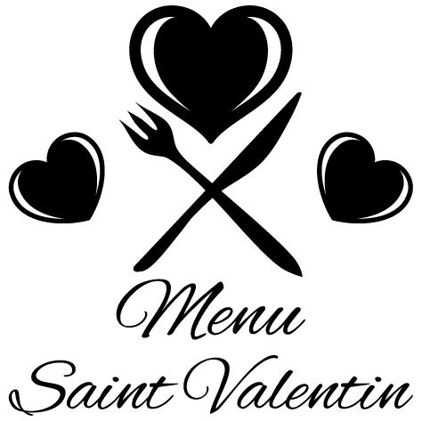 Sticker menu saint valentin