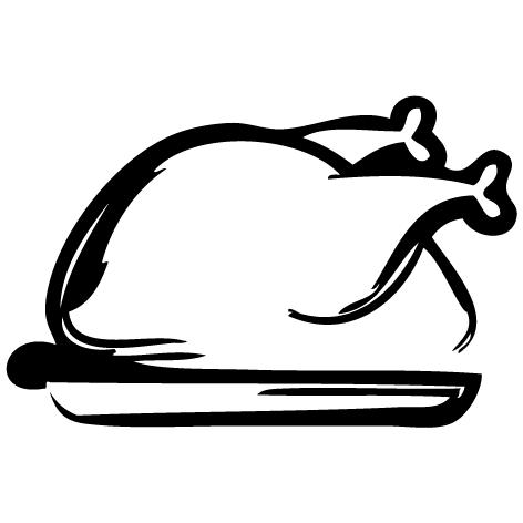 Achat Sticker poulet rôti