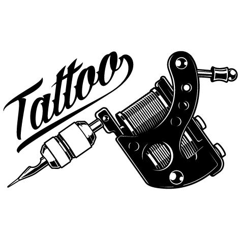 Sticker machine à tatouer