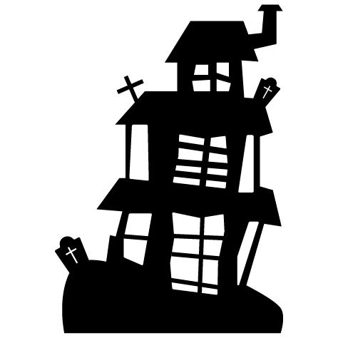 Sticker maison Halloween