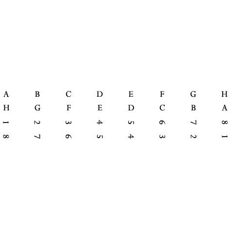 Marquage pour échiquier : hauteur des chiffres et des lettres 1cm