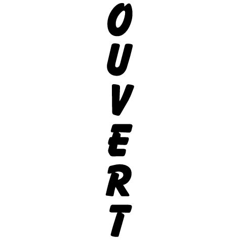 Écriture vertical OUVERT