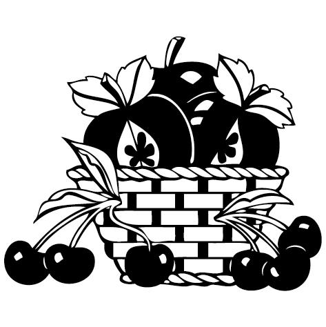 Sticker panier de fruits