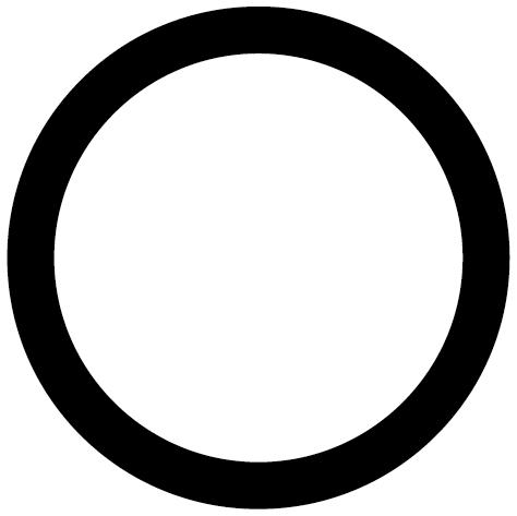 Achat Sticker rond vide 1