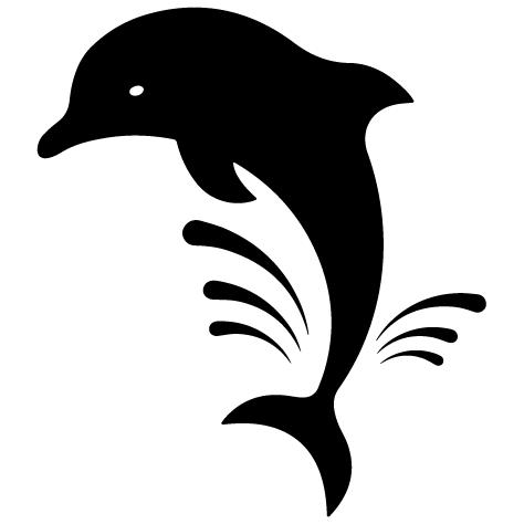 Sticker silhouette dauphin
