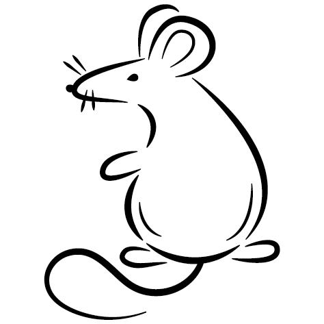 Sticker souris