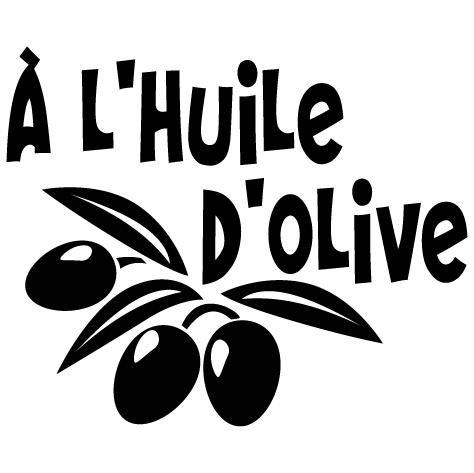 Sticker à l'huile d'olive