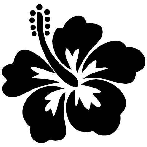 Sticker fleur hawa enne sfl05 ultra r sistant petits - Fleure hawaienne ...