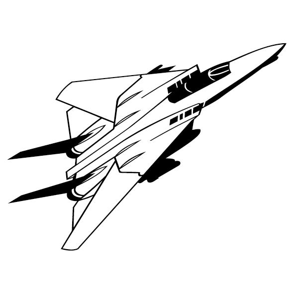 Sticker avion de chasse-07