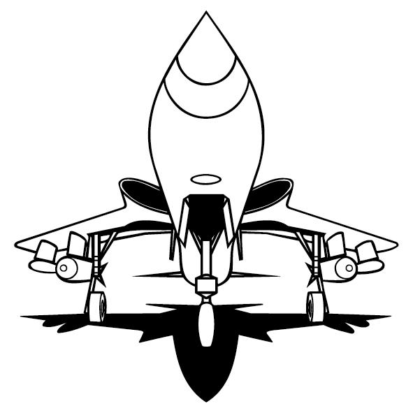 Sticker avion de chasse-08