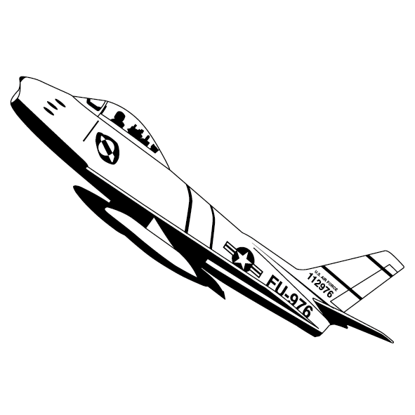 Sticker avion de chasse-10