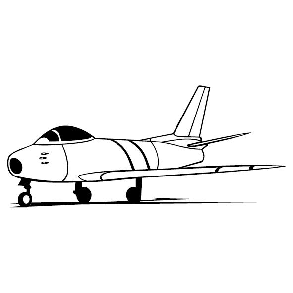 Sticker avion de chasse-12