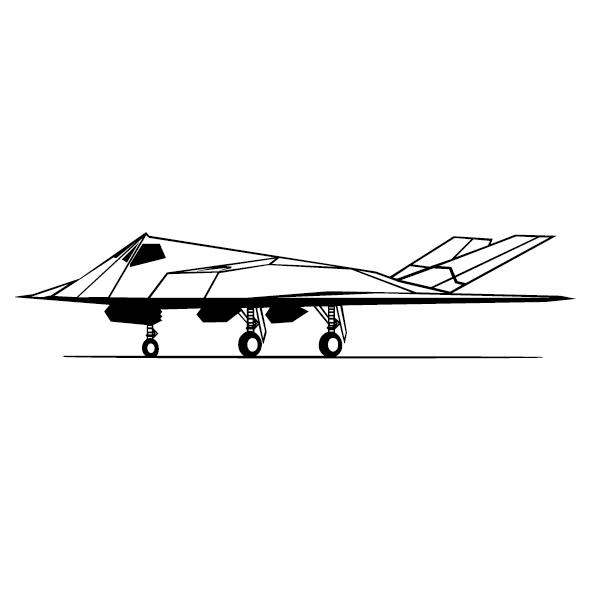 Sticker avion fantôme-18