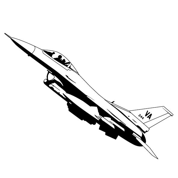 Sticker avion mirage-03