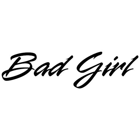 Achat Sticker badgirl : STB04