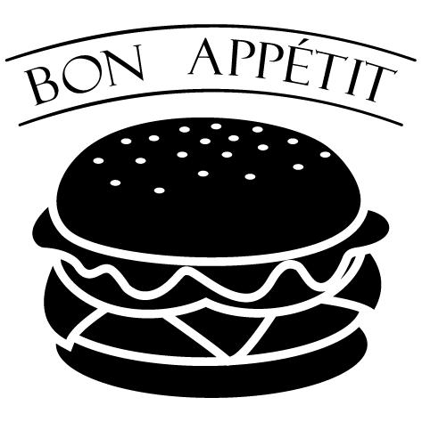 Sticker burger bon appétit