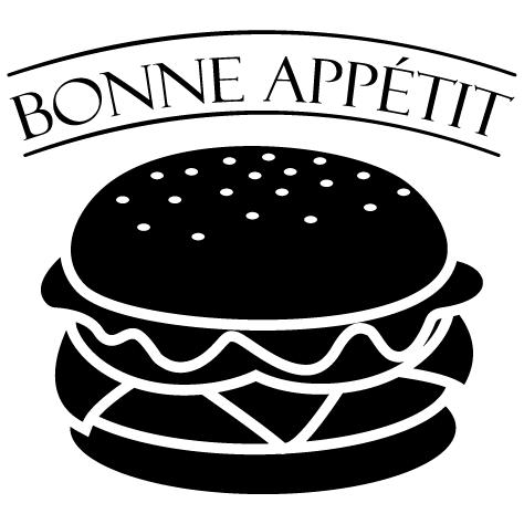 Achat Sticker burger bonne appétit