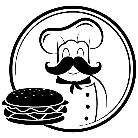 Sticker chef du hamburger