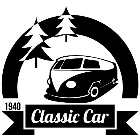 Sticker Classic car
