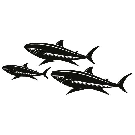 Achat Sticker famille Requins