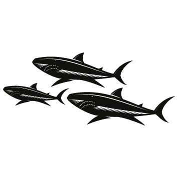 Sticker famille Requins