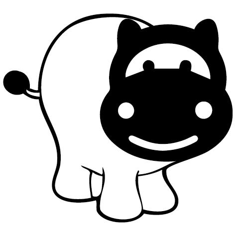 Sticker hippopotame 2 : SCB21