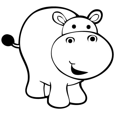 Sticker hippopotame 1 : SCB21