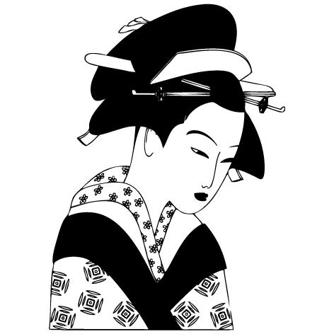 Sticker Mural Japonais
