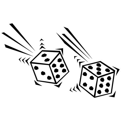 Sticker jeux de dés