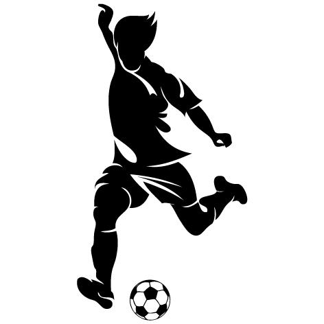 Sticker joueur de foot : SF04