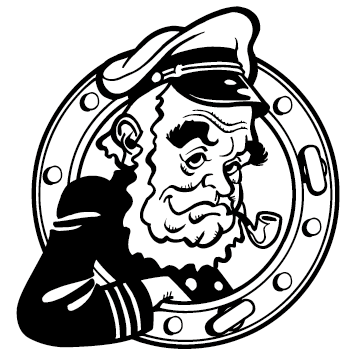 Sticker capitaine marin : 01