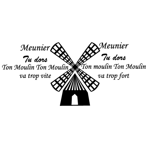 Sticker moulin meunier