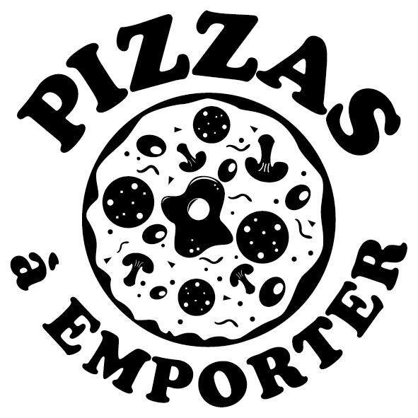 Autocollant pizza à emporter